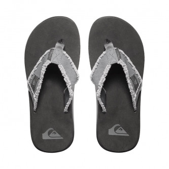 pantofle QUIKSILVER Monkey Abyss Grey Black Brown