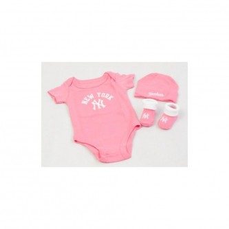 Baby Sada Majestic Romper Set New York Yankees Pink