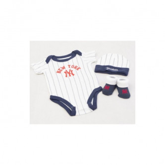 Baby Sada Majestic Romper Set New York Yankees Navy