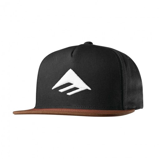 kšiltovka EMERICA Triangle Snapback Black Brown