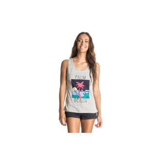 Tílko Roxy Hyper Paradise Palm Beach Light Gray Heather