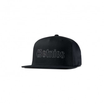kšiltovka ETNIES Corporate 5 Snapback Hat BLACK GREY