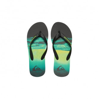 pantofle QUIKSILVER Molokai Hold Down black green green