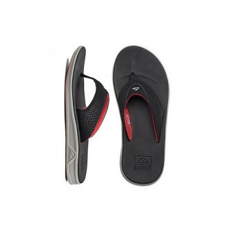 pantofle REEF Rover grey black red