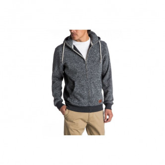 mikina QUIKSILVER Keller Zip DARK GREY HEATHER