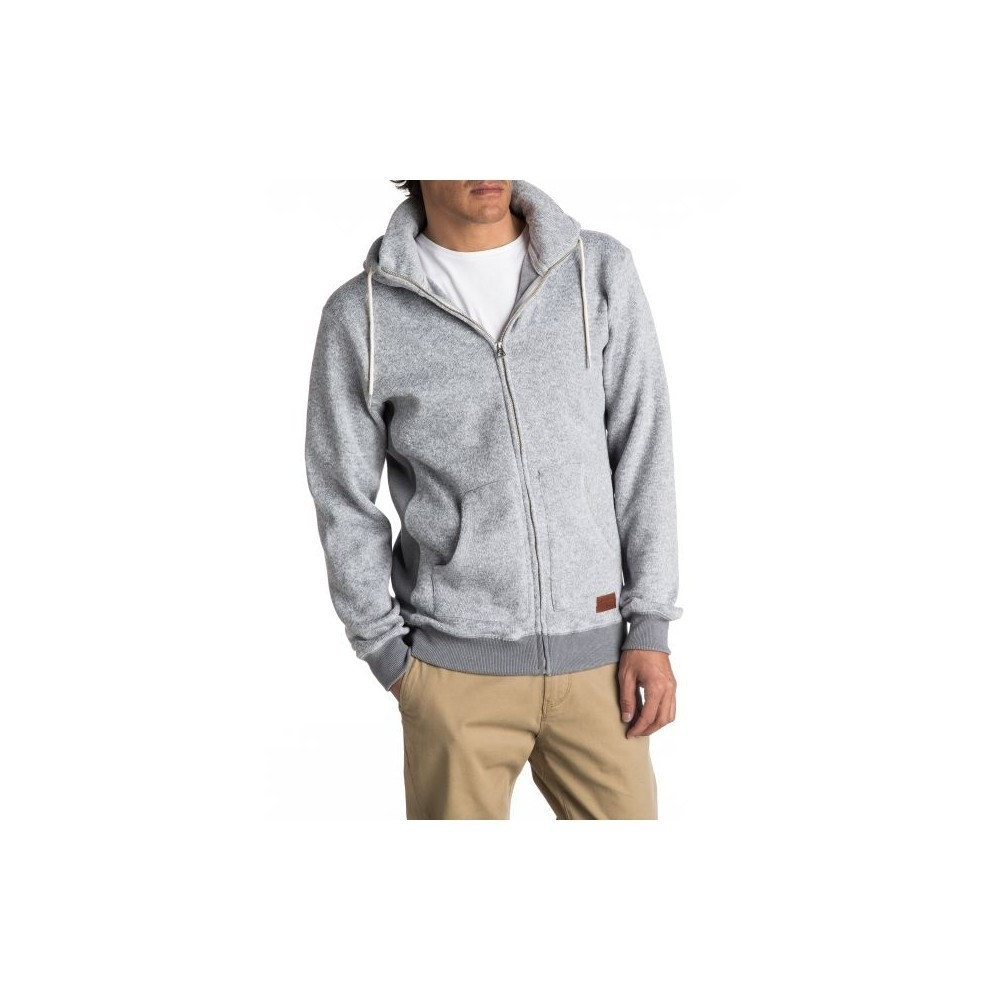 d9a240961b mikina QUIKSILVER Keller Zip LIGHT GREY HEATHER