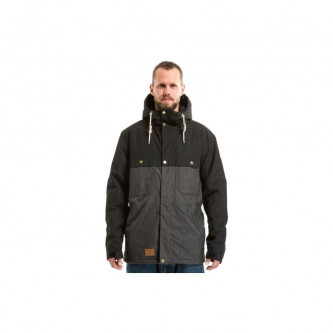 bunda MEATFLY Dandy Parka A BLACK CHAROCAL