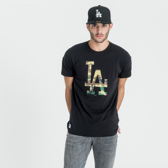 triko NEW ERA Team Apparel Los Angeles Dodgers Black