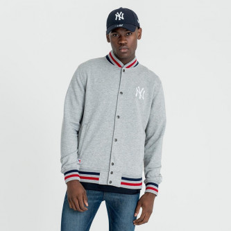 bunda NEW ERA Team Apparel Varsity New York Yankees Light Grey