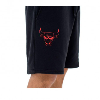 kraťasy NEW ERA NBA Team App Logo Chicago Bulls Black