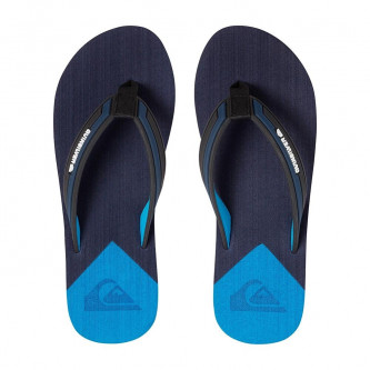 pantofle QUIKSILVER Molokai New Wave Deluxe Black Blue Blue
