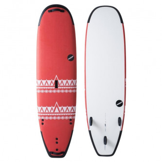 surf board NSP P2 Soft Super Wide 7,4-23 Red