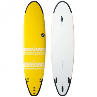 surf board NSP P2 Soft Funboard 7,4-21,5 Yellow