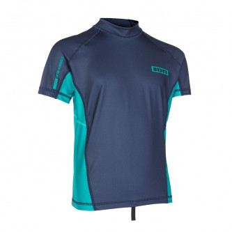 lycra top ION Capture Boys SS blue/golf green