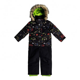 kombinéza QUIKSILVER Rookie Suit Black Maoam Tatt
