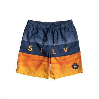 plavky QUIKSILVER Word Block Volley Youth 15 Medieval Blue