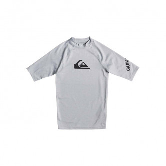 lycra QUIKSILVER All Time SS Youth Light Grey Heather