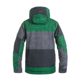 Bunda Quiksilver Mission Print Youth Stripe Jolly Green (Obr. 1)