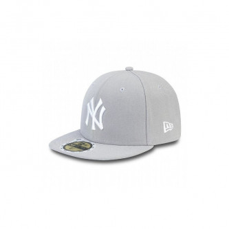 Kšiltovka New Era 5950K Mlb League Basic New York Yankees Grey White