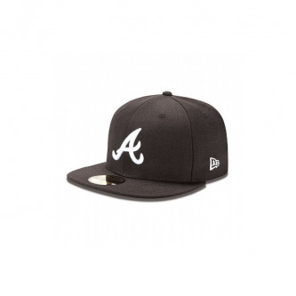 Kšiltovka New Era 5950 Mlb Basic Atlanta Braves Black White