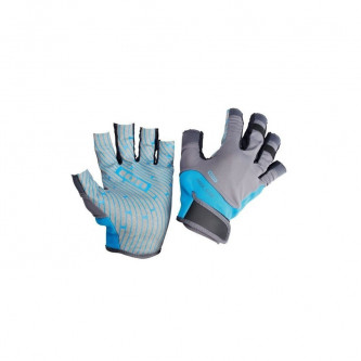 rukavice ION Amara half finger blue/grey