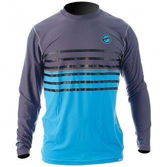 lycra top PROLIMIT LA loosefit Stripe grey/cyan