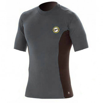 lycra top PROLIMIT Stitchless SA dark grey/black