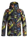 bunda QUIKSILVER Mission Printed Youth Black Thunderbolt